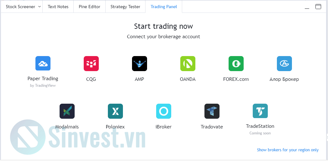 Bottom toolbar tradingview