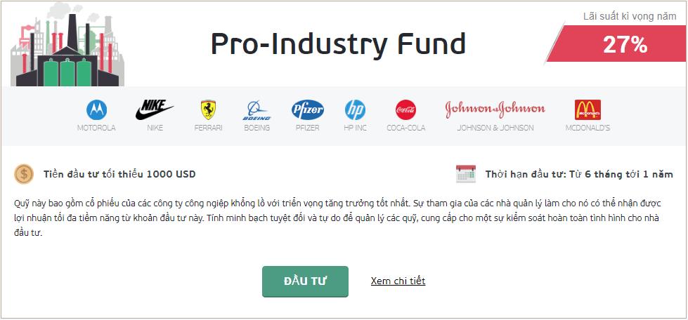 Quỹ Pro Industry NordFX