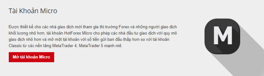 Hot forex review tài khoản micro